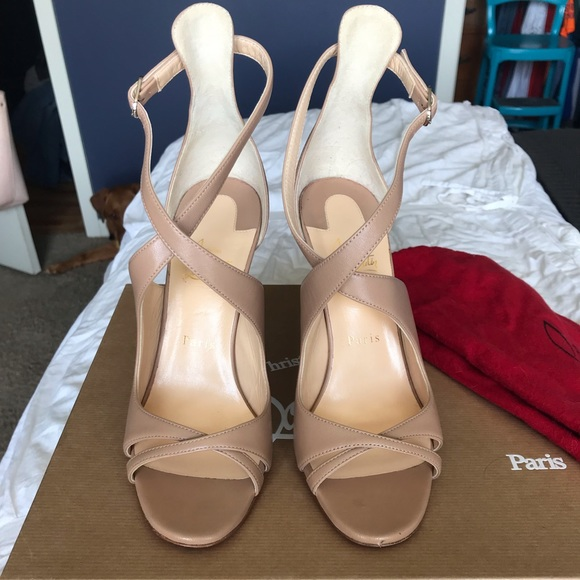 wholesale dealer e5bed aa73e Christian Louboutin Malefissima Criss Cross Heels